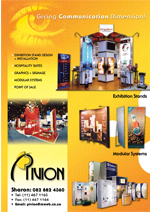 Thumbnail of Pivion brochure showing completed stands