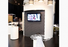 Fine Brandy Show stand with TV monitor