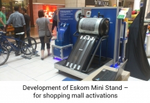 Development of Eskom Mini Stand for shopping mall activations